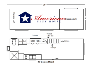 28' Everett Model floor plan -American Tiny House