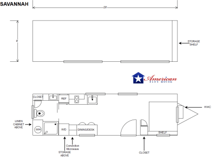 Savannah Floorplan American Tiny House