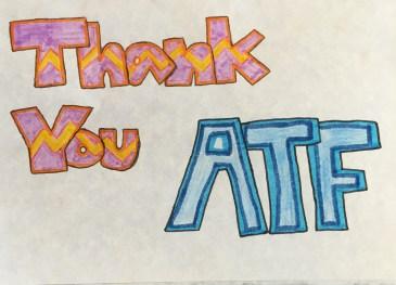 Thank you ATF - Hannah