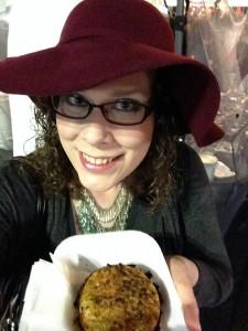Brazilian Artichoke & Pesto Stuffed Hashbrowns...that's the ticket!