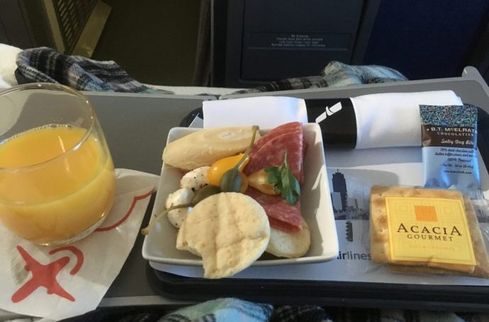 First Class Meal American Airlines
