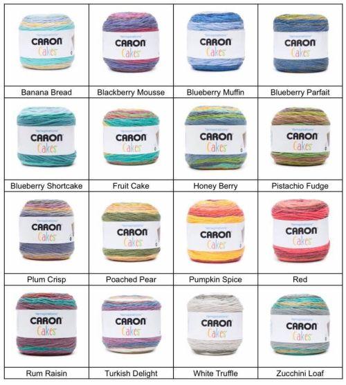 Caron Cakes Fall Colour List
