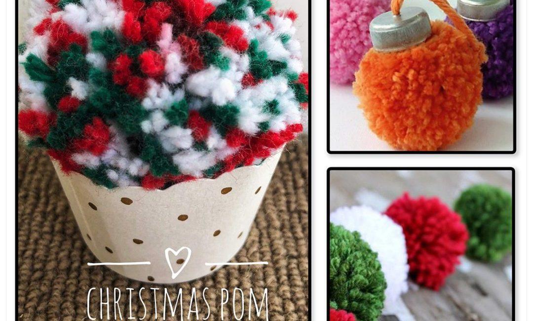 Christmas pom pom decoration