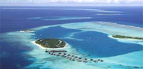Les deux îles du resort