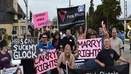 Image result for gays lesbians gun sales
