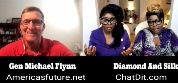 General Flynn chats with Diamond and Silk