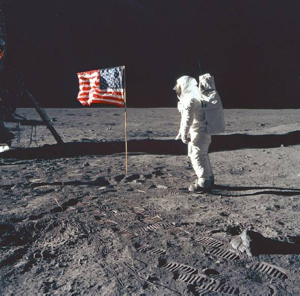 American Flag on the Moon