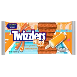 Twizzlers Orange Cream Pop Filled Twists (Stock Sale)