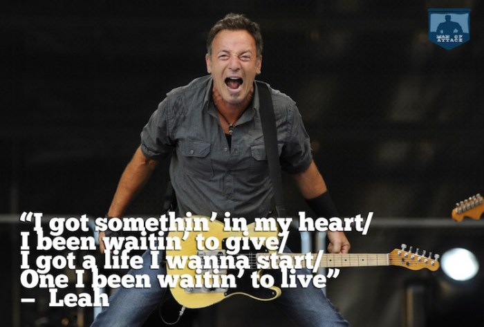 Best Bruce Springsteen Lyrics