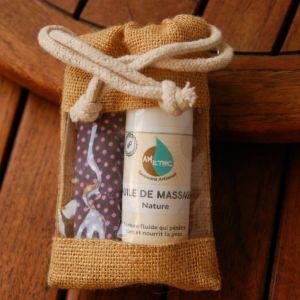 pochette huile de massage nature