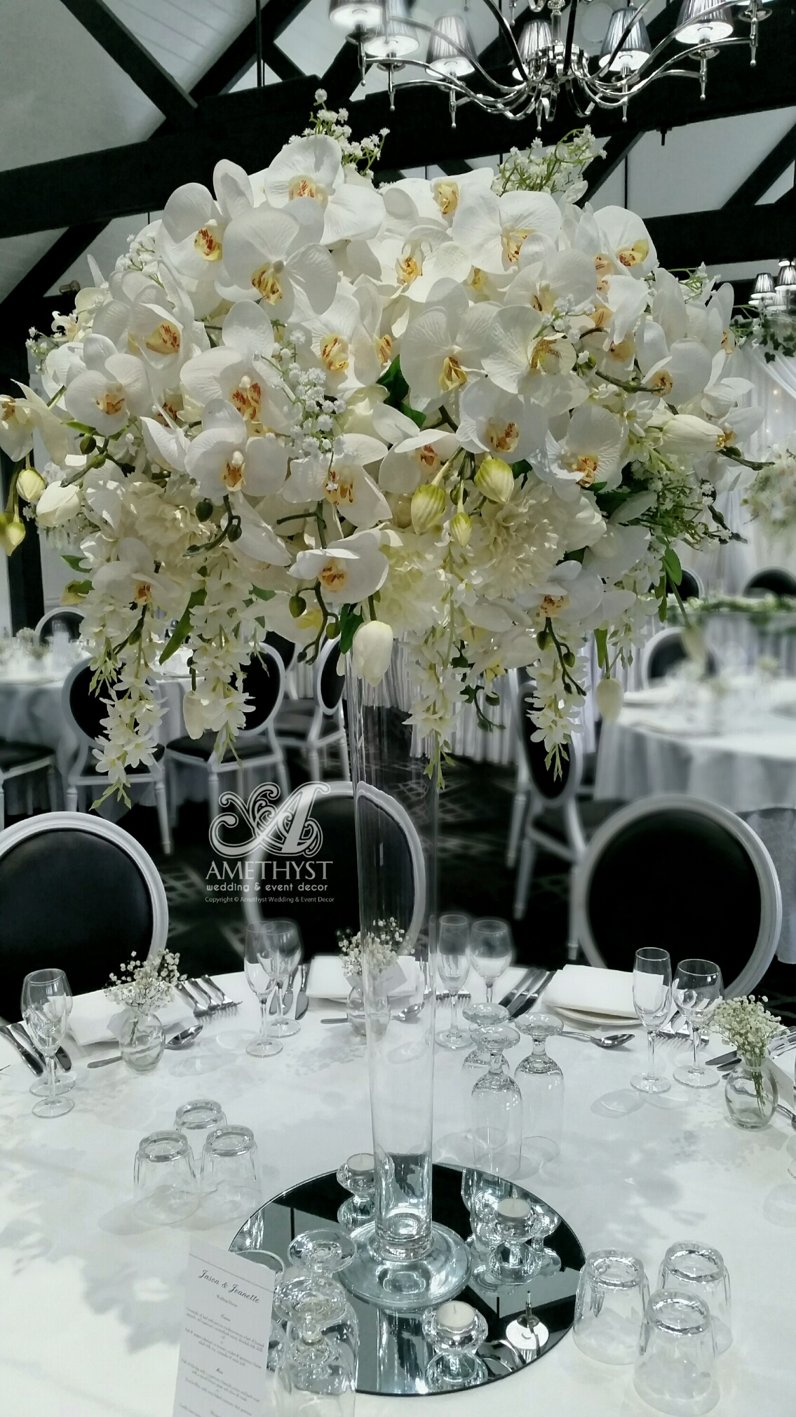 Tall White Orchid Centerpiece More Info Gt Gt