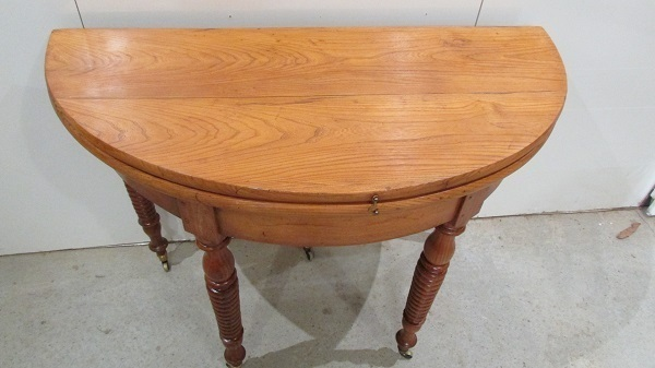 table ronde demi lune console ancienne