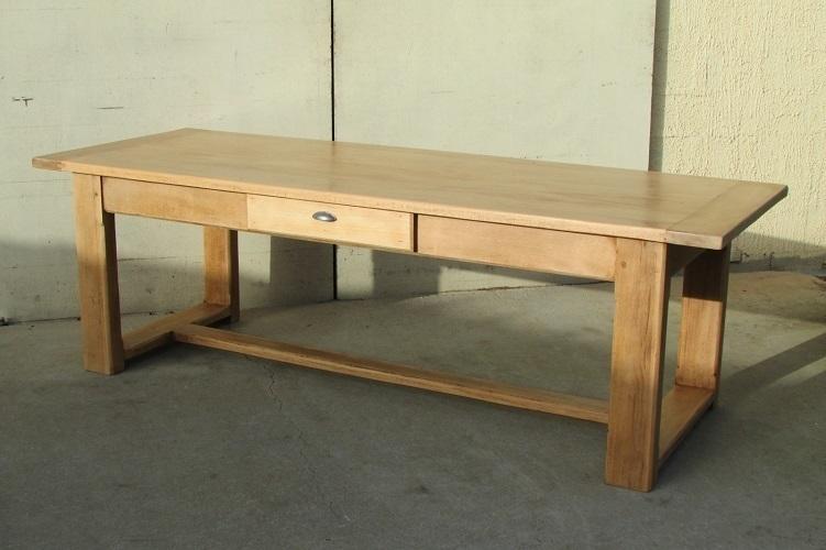 table de ferme en chene massif 250 cm