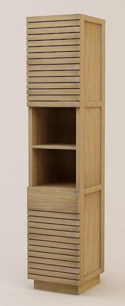 colonne etagere de salle de bains ibiza avec tiroir en teck