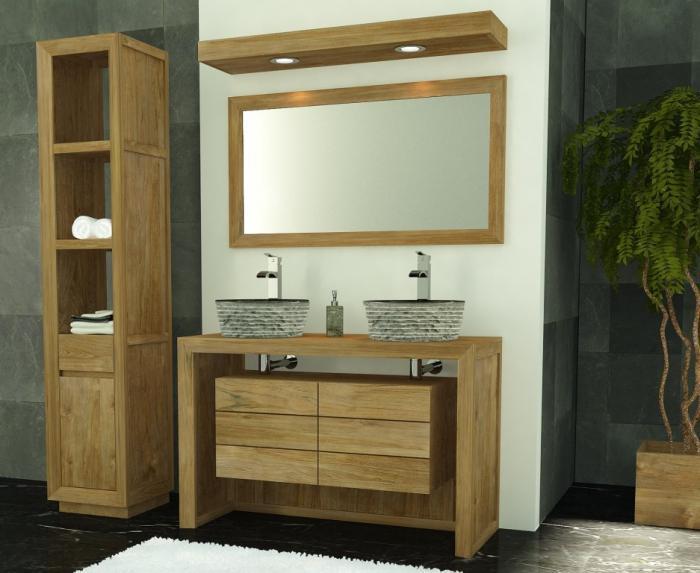 meuble de salle de bain groix l120 en teck