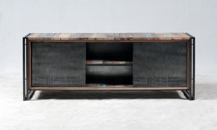 meuble tv 160 cm evasion 2 portes