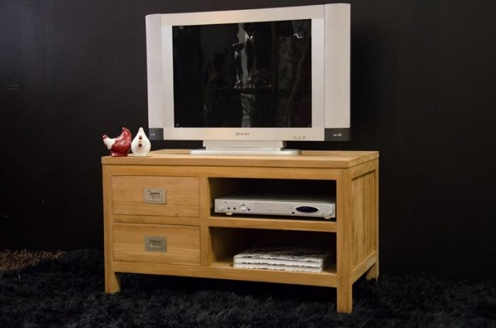 meuble tv en teck naoma 90 cm