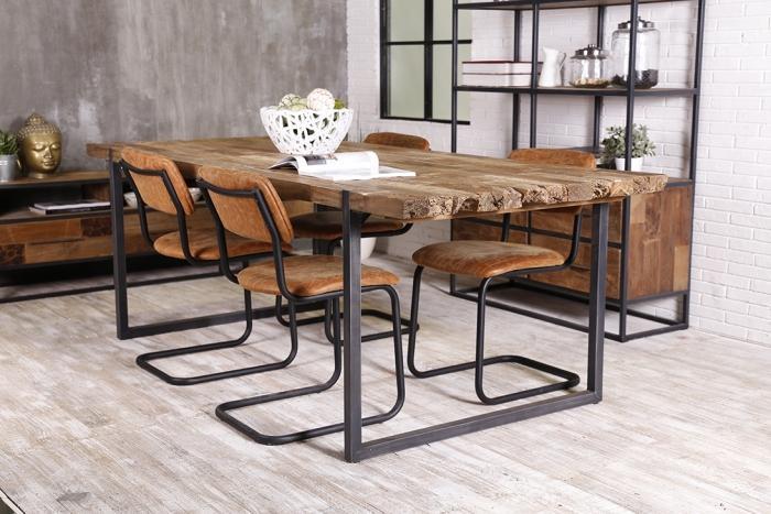 table de repas urban 220 cm au style industriel