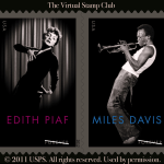 Miles Davis and Edith Piaf Stamps on Sale Today