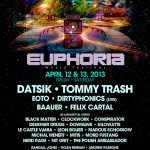 EUPHORIA ANNOUNCES SECOND ROUND OF PERFORMERS FOR 2-DAY MUSIC FESTIVAL IN NEW BRAUNFELS, TEXAS APRIL 12-13, 2013