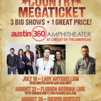 TICKETS FOR LADY ANTEBELLUM, FLORIDA GEORGIA LINE AND DIERKS BENTLEY AT AUSTIN 360 AMPHITHEATER