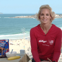 SWIMMER DARA TORRES MENTORS TEAM U.S.A. FOR 2016 OLYMPICS