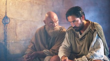 PAUL, APOSTLE OF CHRIST: JIM CAVIEZEL AND JAMES FAULKNER (VIDEO INTERVIEW)
