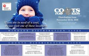 Coats for Kids Distribution Schedule