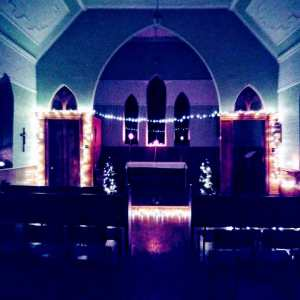 St. Bartholomew's Catholic Church decorated for Christmas