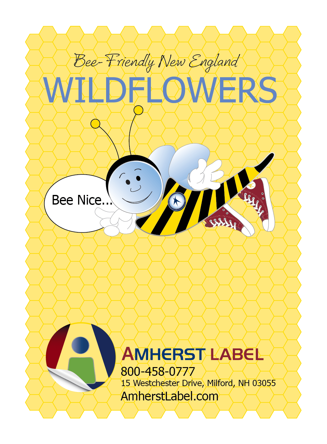 Textured Labels For Bee Friendly Wildflower Packets