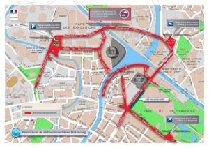 Restrictions de stationnement - 14.11 à 19h jusqu'au 25.11 à 14h