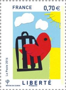 liberte - Un triptyque de timbres républicains conçu par des collégiens