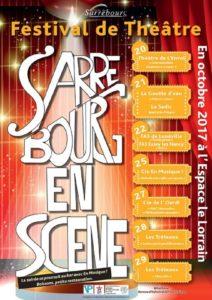 agffiche sarrebourg - Festival de théâtre Sarrebourg en scène