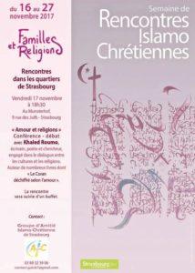 rencontres - Semaine de rencontres islamo-chrétiennes : 7 jours de rencontre