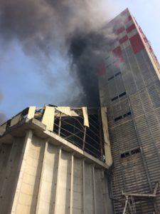 IMG 0976 e1528289090955 - Explosion d'un silo à grains dans la zone portuaire sud de Strasbourg