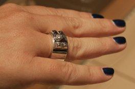 Anello in argento di hermès
