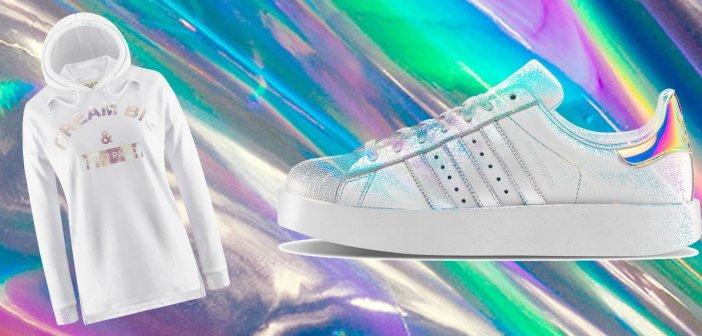 Sneakers Donna Anni 80. Tendenze Iridescenti e metalliche