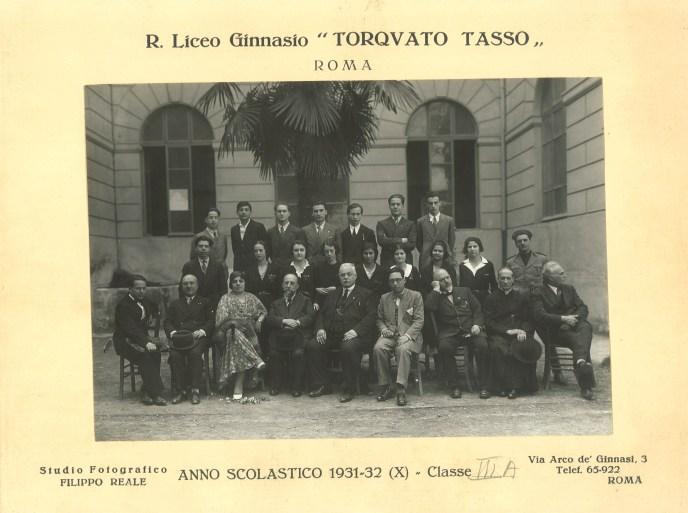 1932 3° A f  Classe Emma Castelnuovo