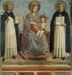 Angelico, Maria tra i santi Domenico e Tommaso d'Aquino