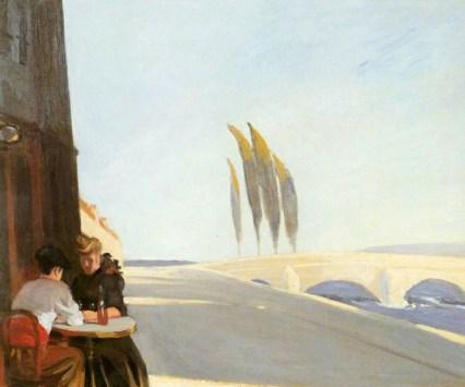 """Le bistro"" Edward Hopper"