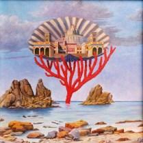 Mario Dabbene - Nuovo Rinascimento - olio su tavola - cm. 70 x 70