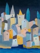 Constantin Neacsu - Paesaggio ligure - olio su tela - cm. 70 x 100
