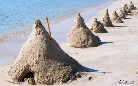 Francesco Pellicanò - Coni di sabbia - fotografia - cm. 50 x 30