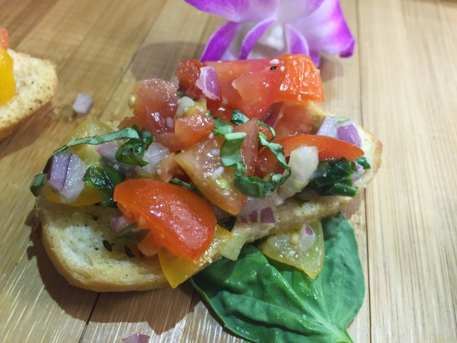 Fresh Tomato, Garlic and Basil Bruschetta