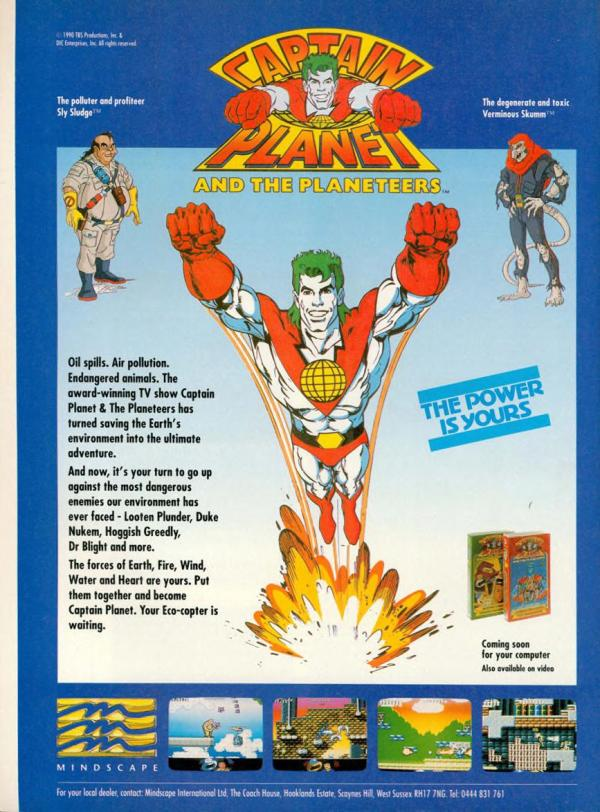 Advertisement for captain planet computer game