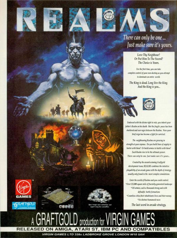 Retro computer game realms poster ad