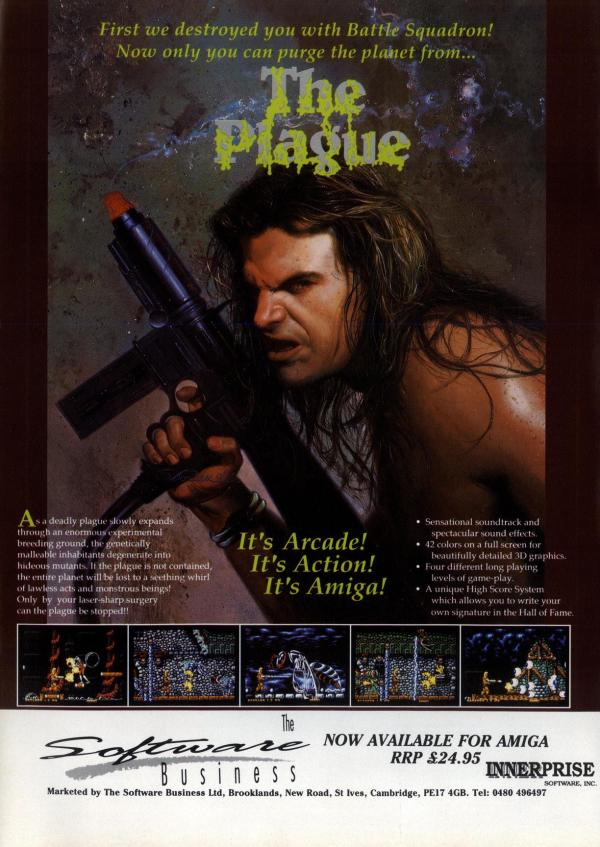 Vintage computer game poster The Plague