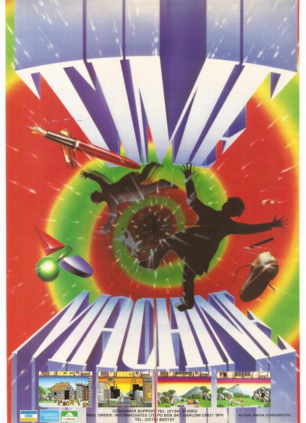 advert for the retro Amiga computer game Time Machine