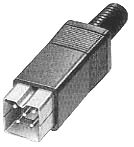 Connecteur alim carré dp215 pour Amiga 500 / Amiga 600 / Amiga 1200