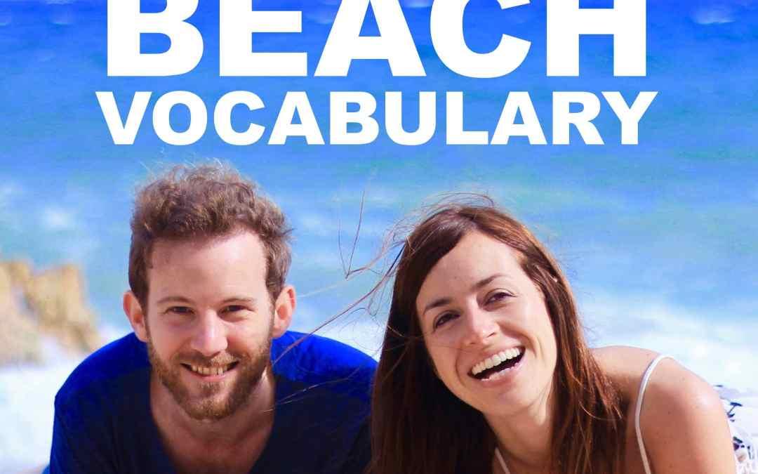 Beach Vocabulary in English
